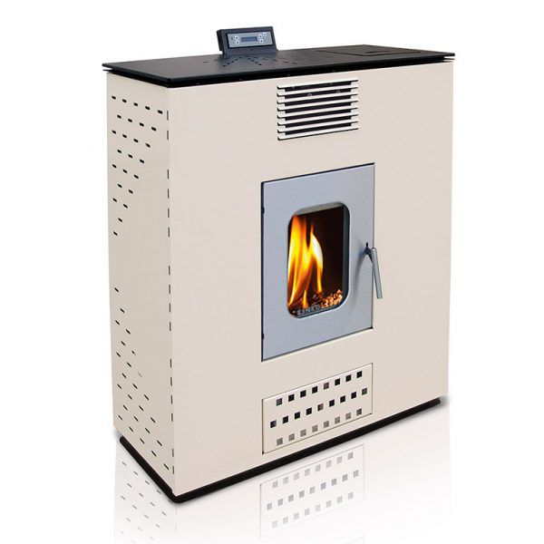 Pellet Stove For Central Heating P12 SLIM WATER+AIR